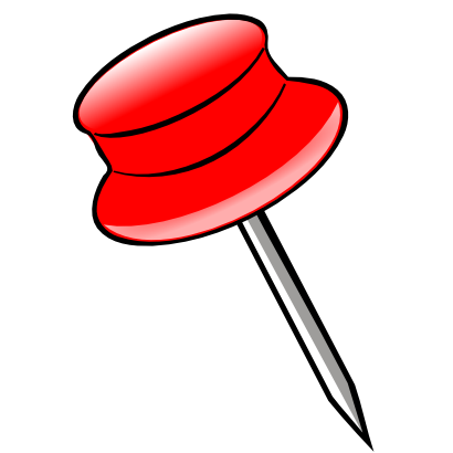 Free Clipart of Pin Red Nicu Buculei 01.