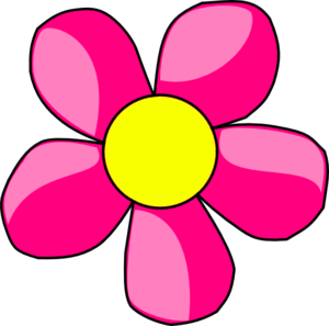 Hot Pink Flower Clip Art at Clker.com.