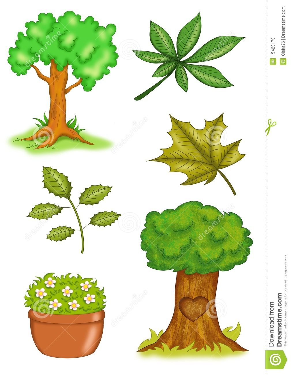 Trees And Plants Clipart.