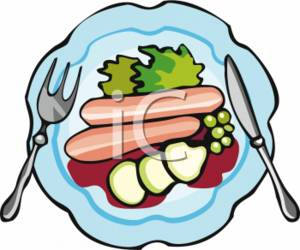 Plate of food clipart 8 » Clipart Station.