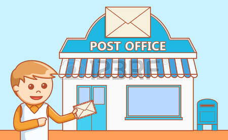 622 Post Office free clipart.