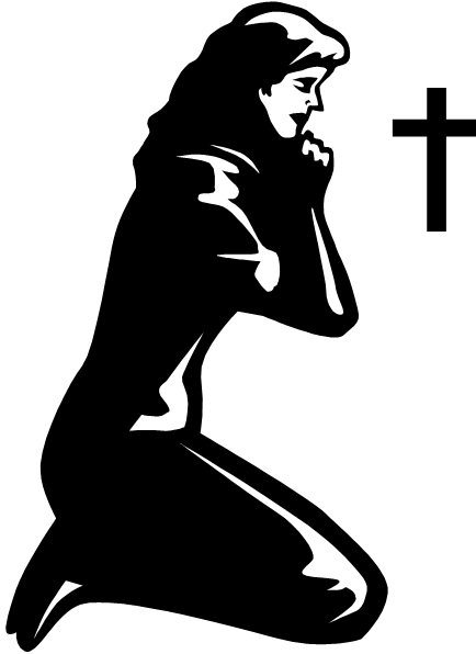 clipart of praying woman - Clipground