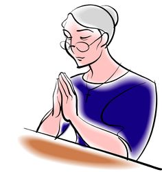 Clipart Of A Woman Pastor Praying.