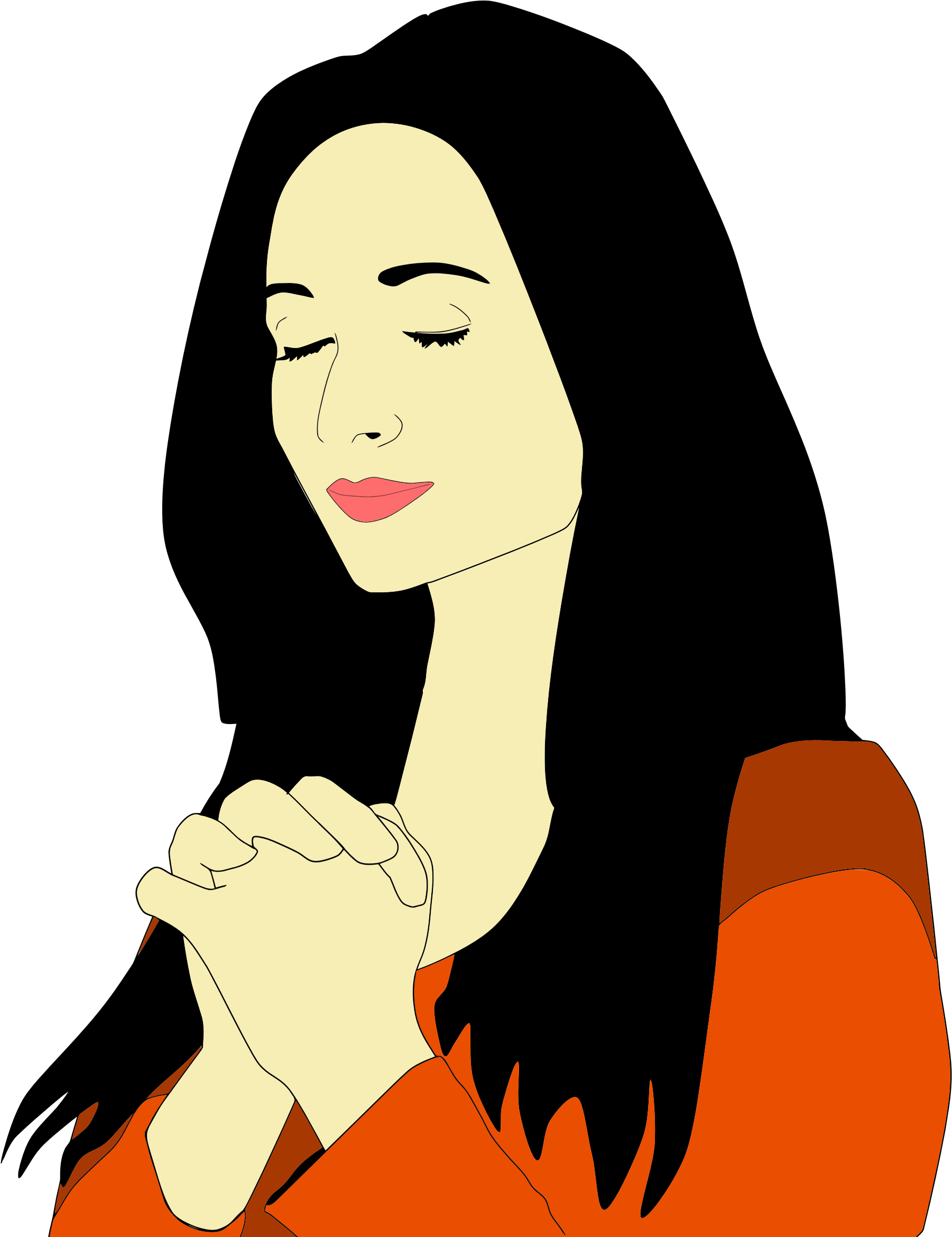 Clipart Of Praying Woman.
