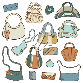 Royalty Free Clipart Image of a Collection of Purses #602842.
