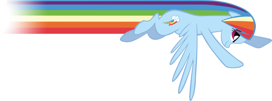 Rainbow Dash Flying PNG Clipart.