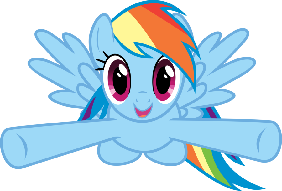 hug rainbow dash by C.