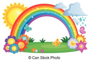 Sun and rainbow clipart 8 » Clipart Station.