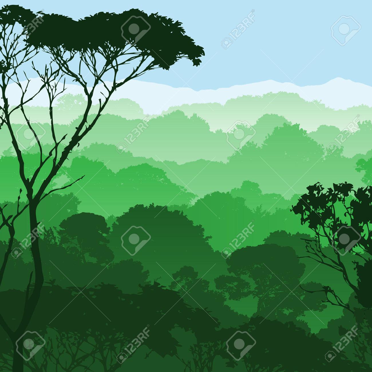 1972 Rainforest free clipart.