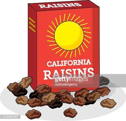 Box of Raisins Clipart Image.