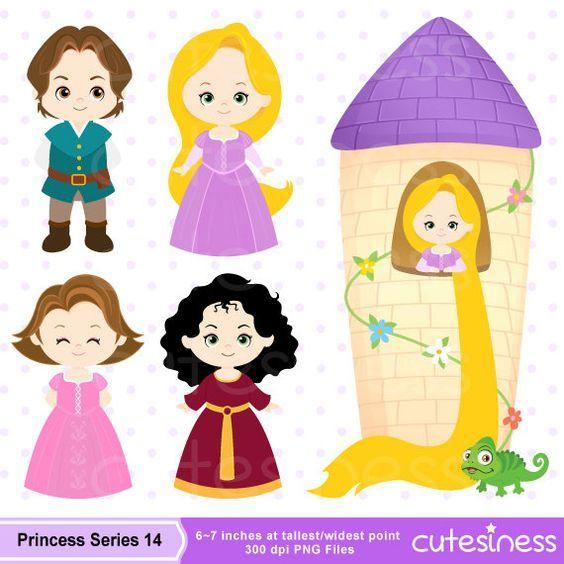 Princess Digital Clipart Princess Clipart Rapunzel by Cutesiness.