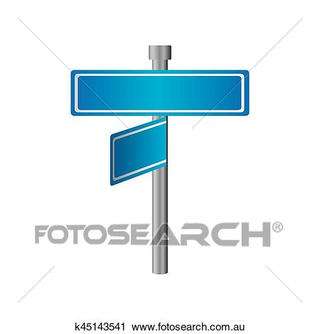 Rectangle shape with metal pointer with two directions and one in front  view Clipart.