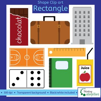 Rectangle objects 2D Clip art (shapes).