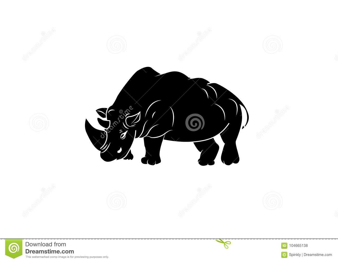 Rhino icon clipart stock illustration. Illustration of generated.