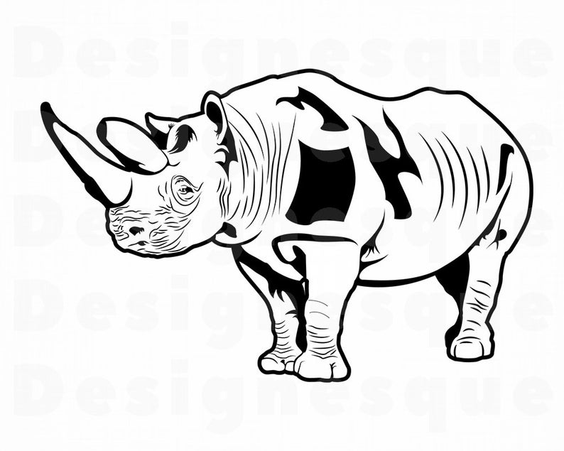Rhino #7 SVG, Rhino SVG, Rhinoceros Svg, Rhino Clipart, Rhino Files for  Cricut, Rhino Cut Files For Silhouette, Rhino Dxf, Png, Eps, Vector.