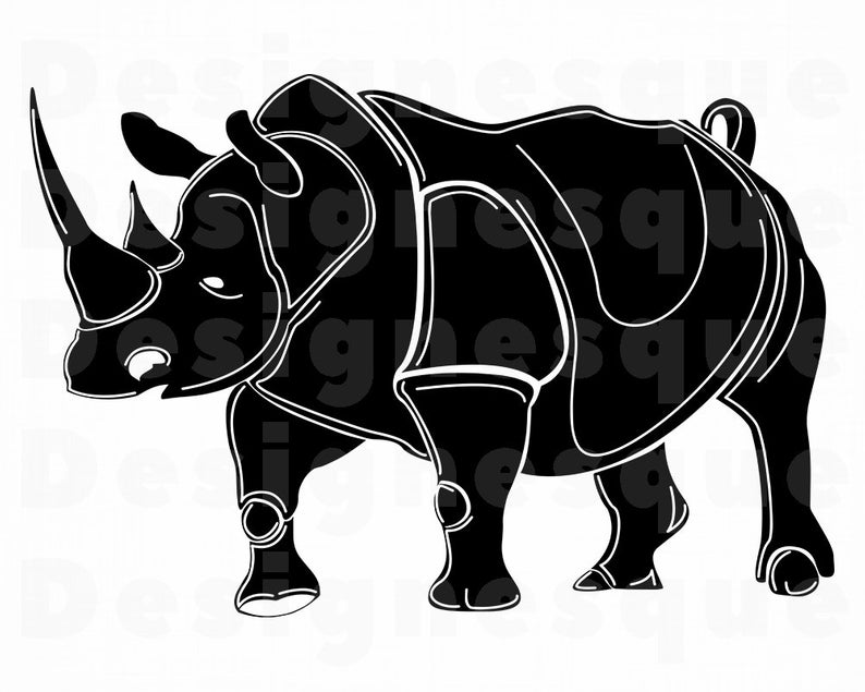 Rhino #5 SVG, Rhino SVG, Rhinoceros Svg, Rhino Clipart, Rhino Files for  Cricut, Rhino Cut Files For Silhouette, Rhino Dxf, Png, Eps, Vector.
