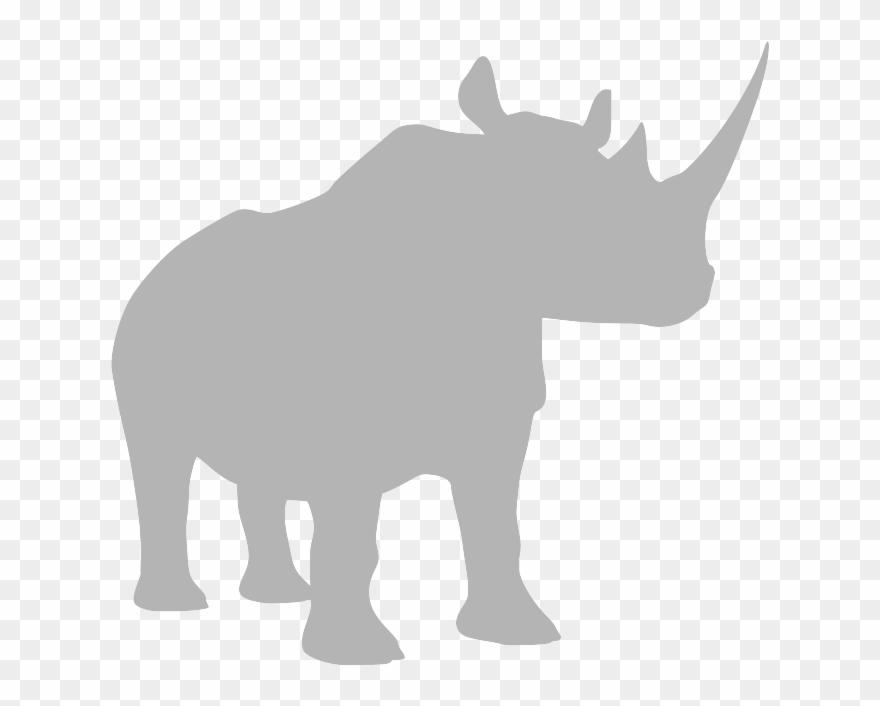 Grey Clipart Rhino.