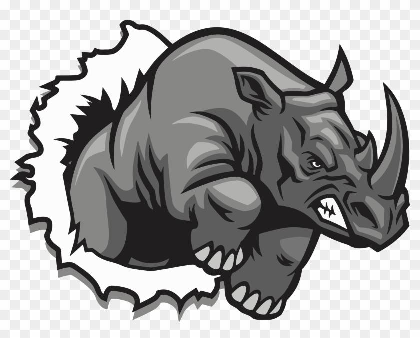 Clip Art Rhino.
