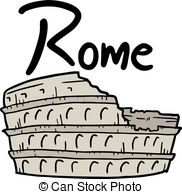 Rome (baths of caracalla) Vector Clipart.