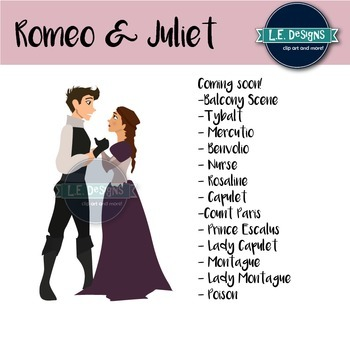 Romeo and Juliet Clipart {Growing Set}.