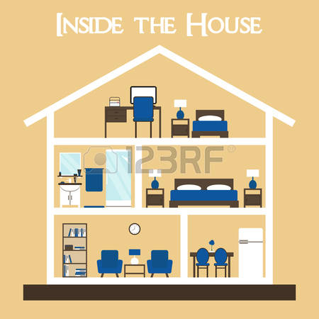 21,430 Inside House Stock Vector Illustration And Royalty Free.