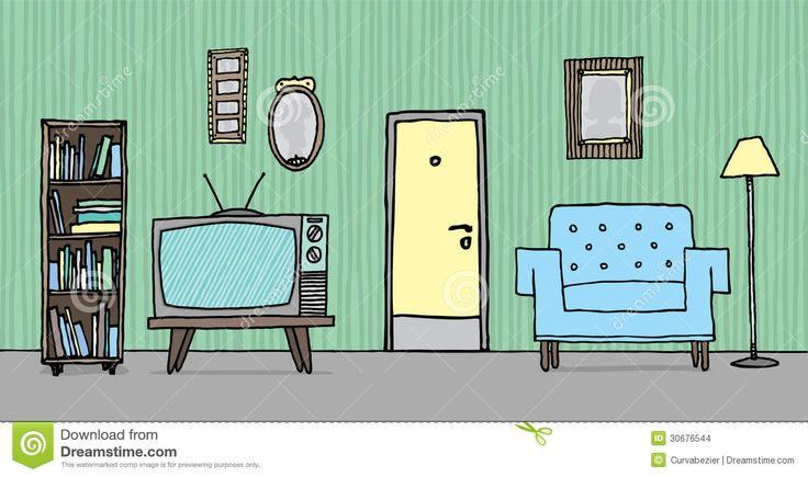 Inside Of A House Clipart.