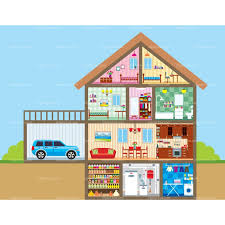 Image result for things inside the house clipart.