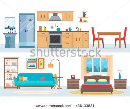 Inside House Stock Images, Royalty.