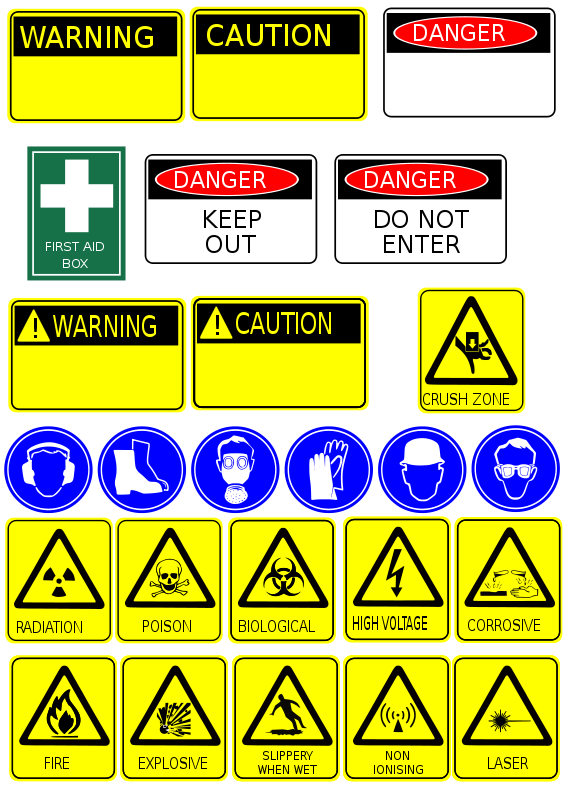 Free Clipart: Safety signs.