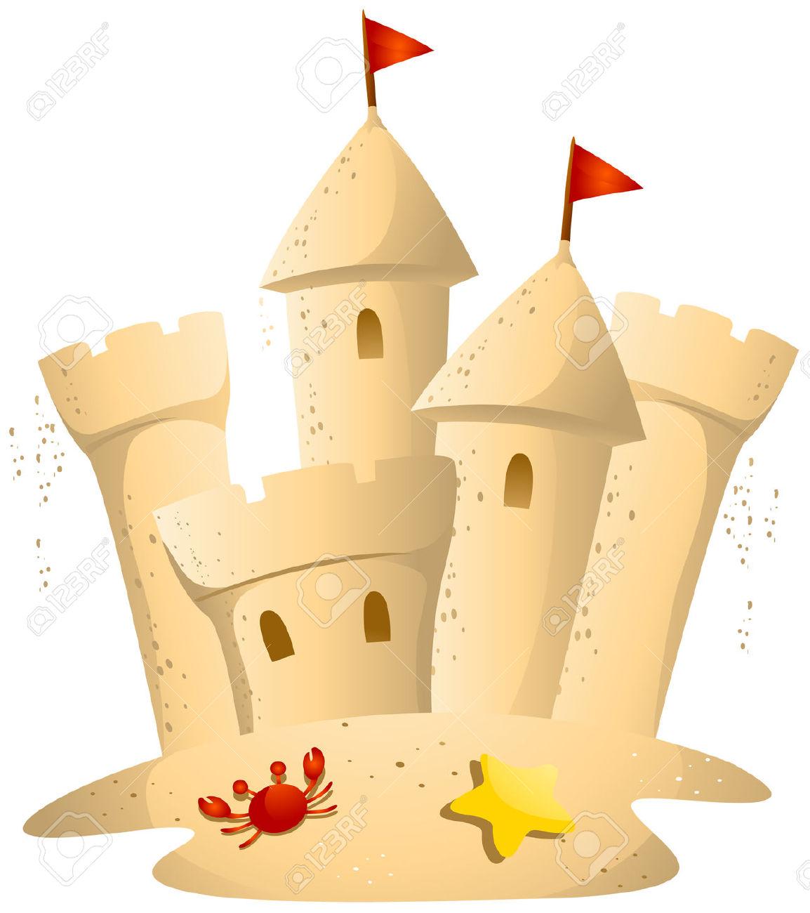 340 Sand Castle free clipart.