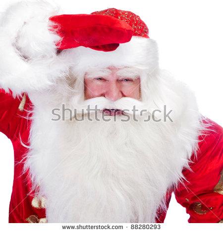 Bad Santa Middle Finger Stock Photo 344287772.