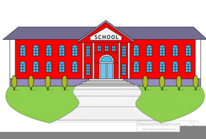 Clipart Of School Building.