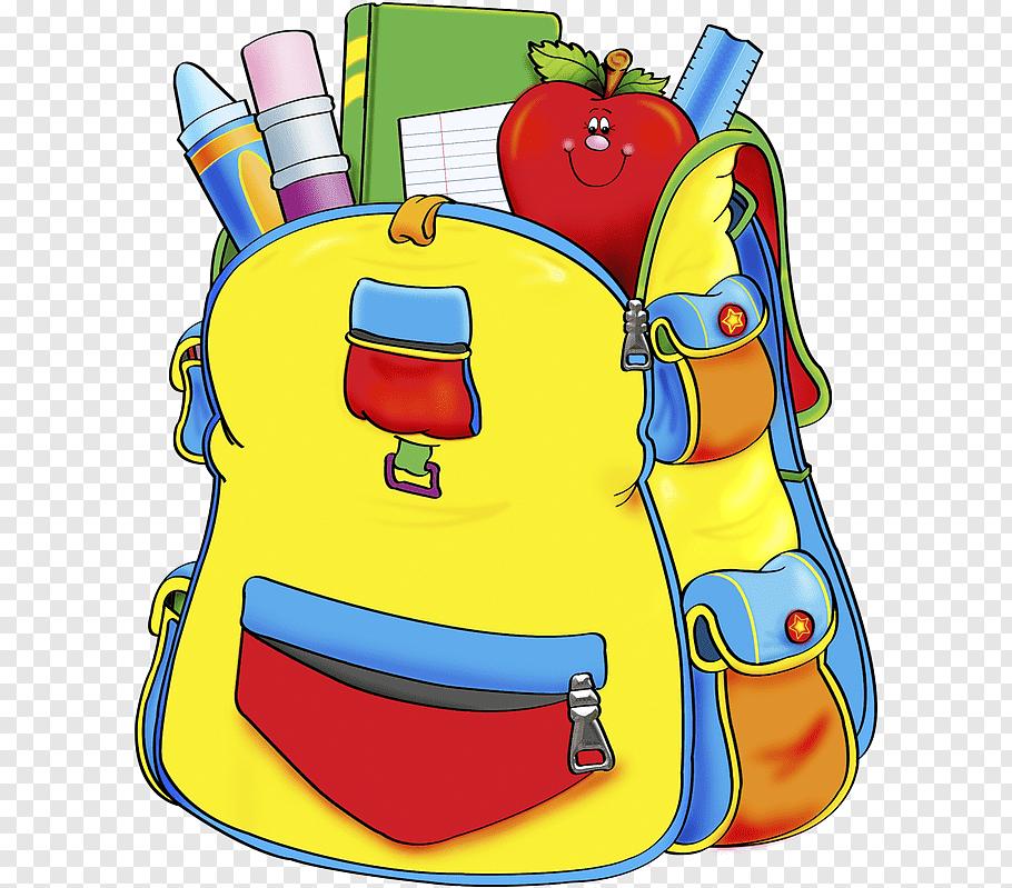 Multicolored backpack bag, School supplies, school bag free.