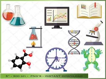 Science Digital Clipart.