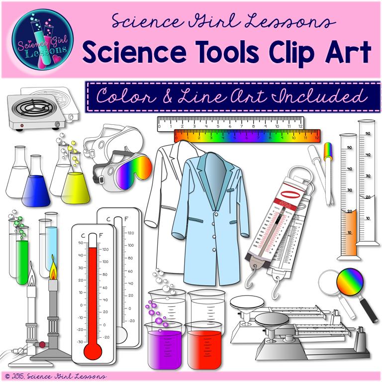 Science Tools Clip Art {Mega Pack}.
