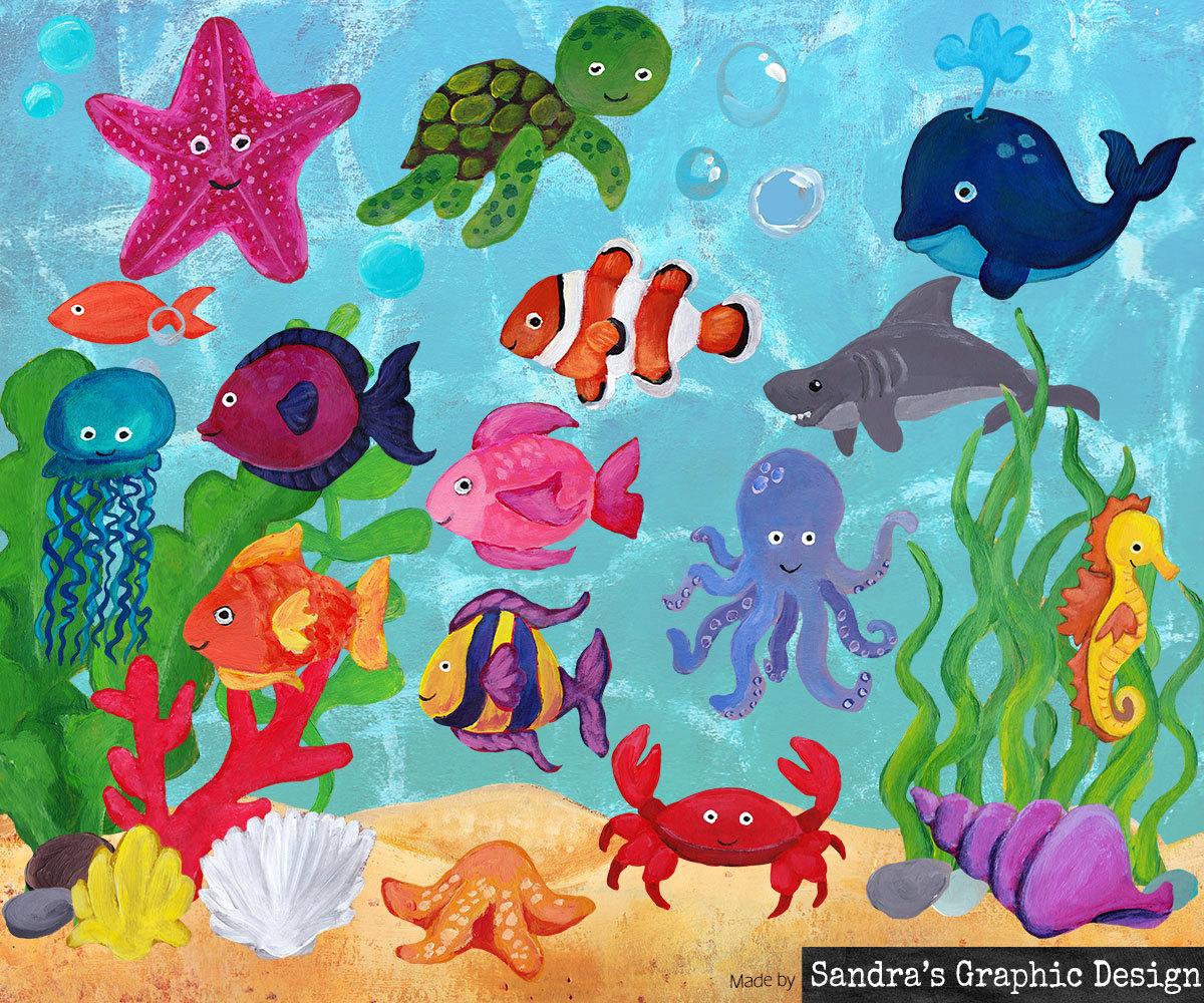 458 Sea Life free clipart.