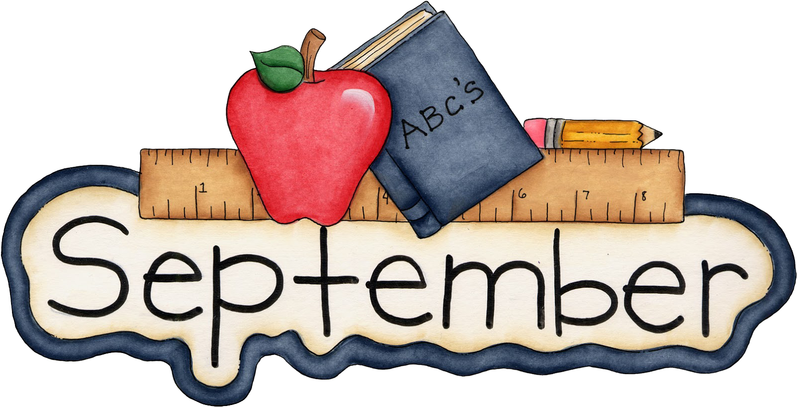 Graphic Free Library September Calendar Clipart.