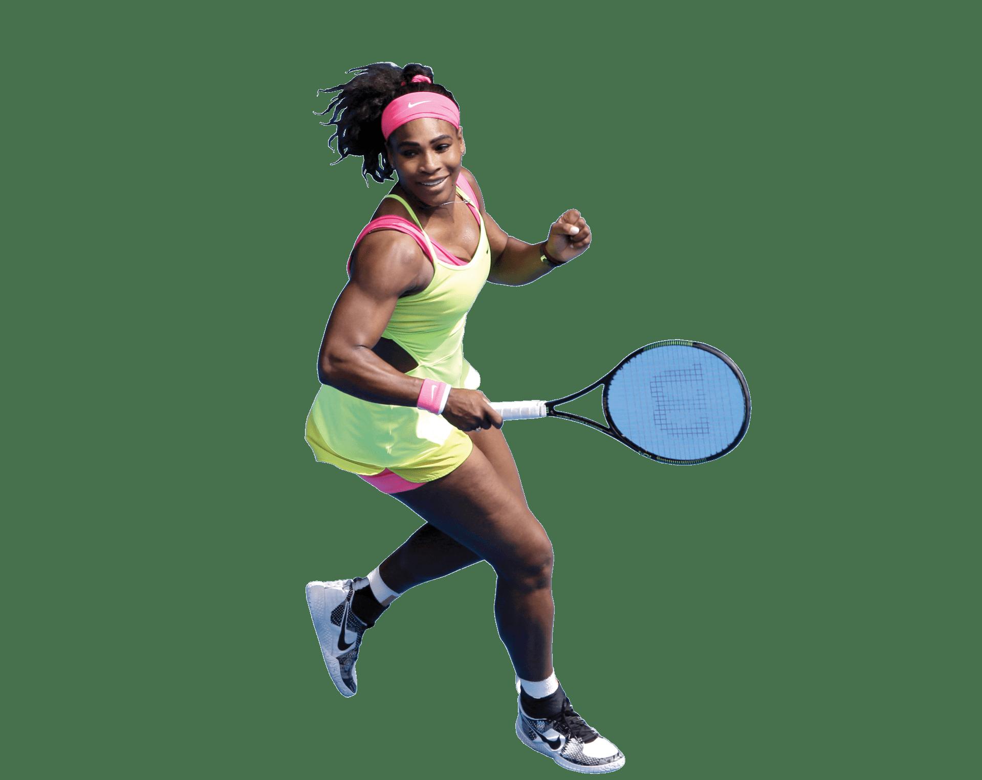 Serena Williams transparent PNG.