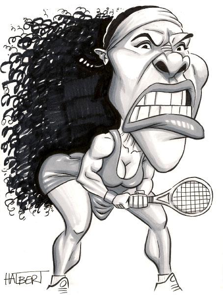 Serena williams clipart.