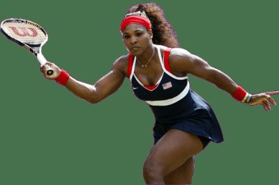 Serena Williams Playing transparent PNG.