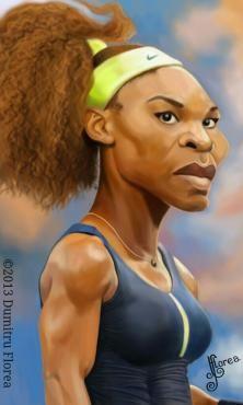 Celebrity caricatures Serena y Venus Williams.