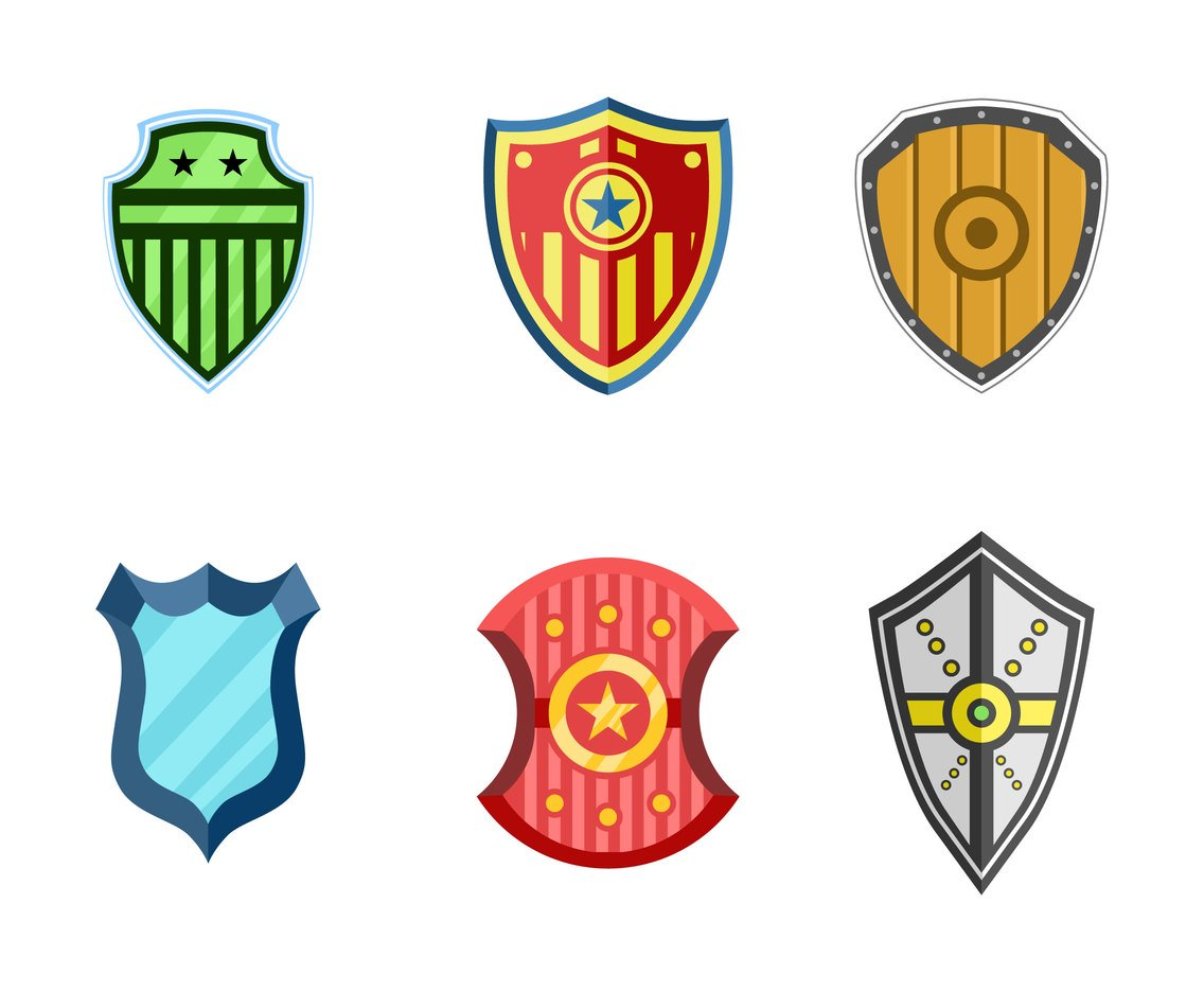 Various Shields Clipart Vector Vector Art & Graphics.