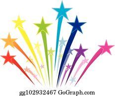 Shooting Stars Clip Art.