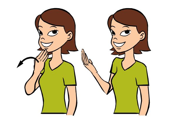 American Sign Language Clip Art.