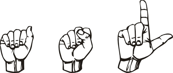 American Sign Language Asl clip art Free vector in Open office.