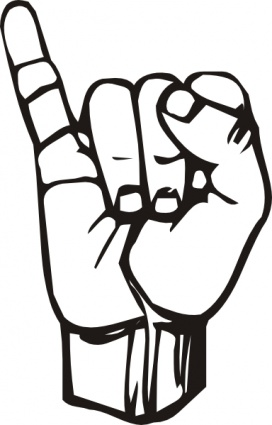 I Love You Sign Language Clipart.