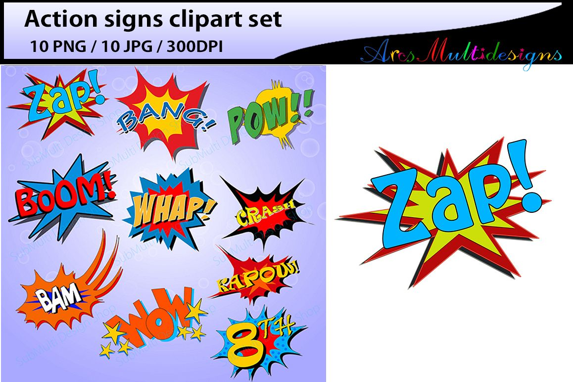 action signs High Quality clipart action sign silhouette zap clipart bang  clipart pow clipart boom clipart pop art comic book.