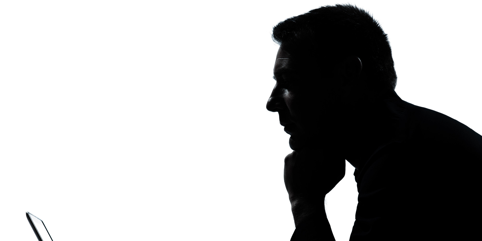Man Thinking Silhouette.