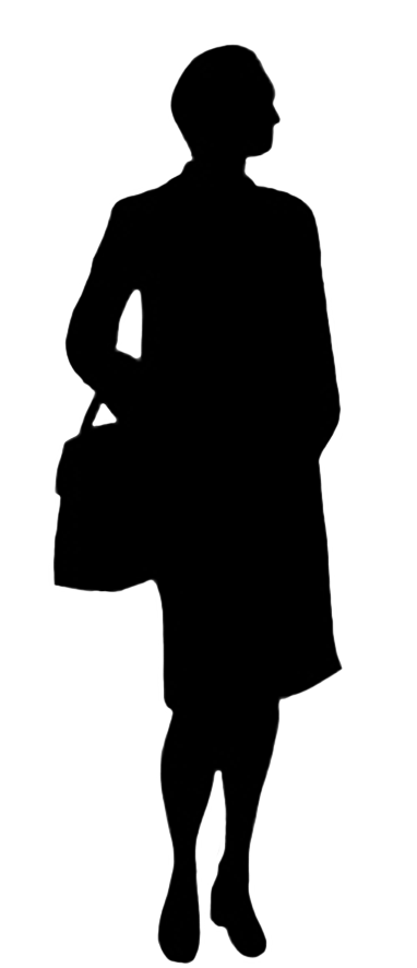 Silhouettes of People.