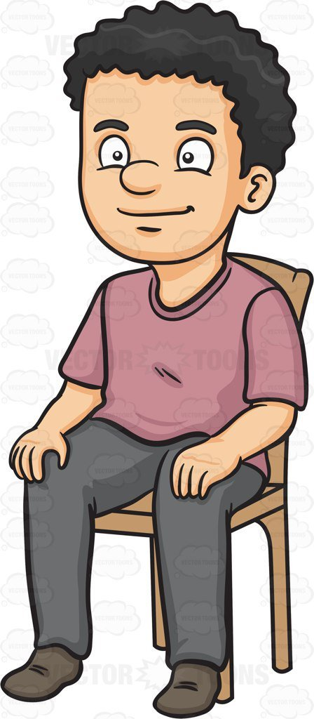 Person sitting on chair clipart » Clipart Portal.
